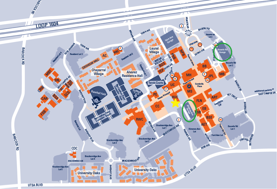 UTSA Campus map